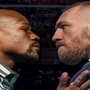 Conor McGregor talks after signing Mayweather contract