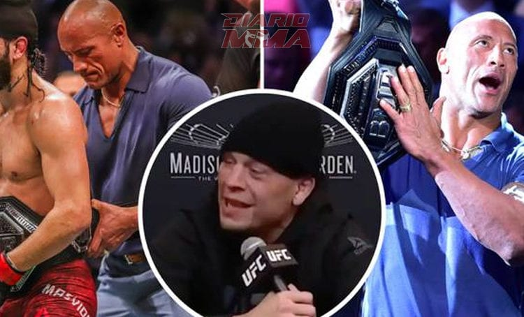 Nate Diaz explota contra The Rock y luego se retracta… a medias